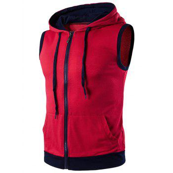 Zip Up Hooded Tank Top