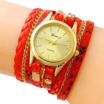 Analog Wrap Bracelet Watch