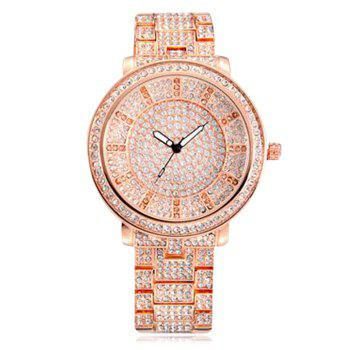 SOUSOU Sparkly Rhinestoned Quartz Watch