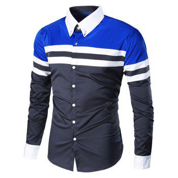 Striped Long Sleeve Button Down Shirt