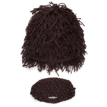 Hobo Pretend Beanie Wig Beard Party Mask Set