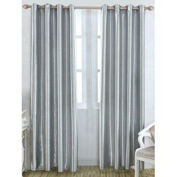 Thermal Insulated Blackout Curtain For Living Room - GRAY W39 INCH*L98 INCH