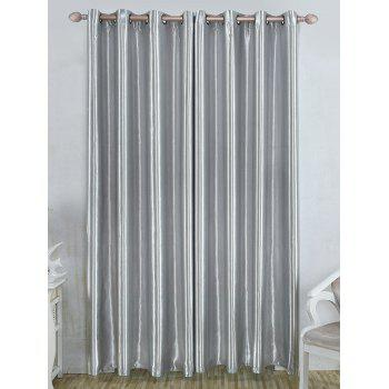 Thermal Insulated Blackout Curtain Pour Living Room - Gris W39 INCH*L98 INCH