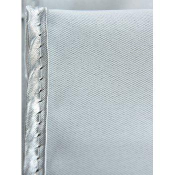 Thermal Insulated Blackout Curtain Pour Living Room - Gris W57 INCH*L69 INCH