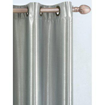Thermal Insulated Blackout Curtain Pour Living Room - gris W53 INCH*L85 INCH