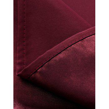 Thermal Insulated Blackout Curtain Pour Living Room - Rouge vineux W39 INCH*L98 INCH