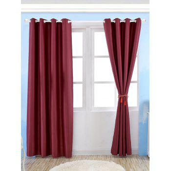 Thermal Insulated Blackout Curtain For Living Room - WINE RED WINE RED