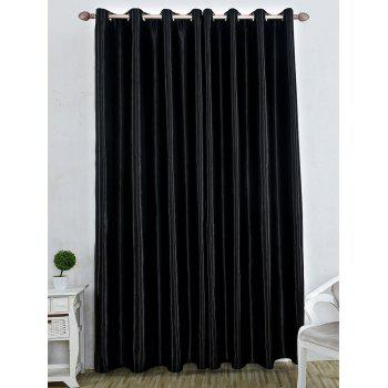 Thermal Insulated Blackout Curtain For Living Room - BLACK BLACK