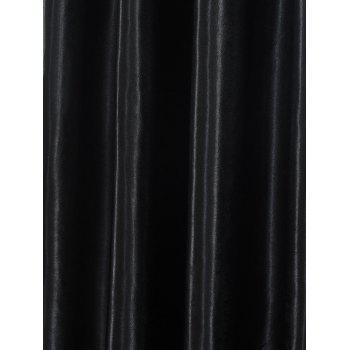 Thermal Insulated Blackout Curtain For Living Room - BLACK W53 INCH*L85 INCH