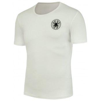 Spider Embroidery Short Sleeve T-Shirt