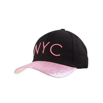 Sequined Brim NYC Embroideried Baseball Hat