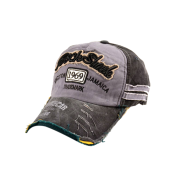 Frayed Edge Baseball Hat with 1969 Embroidery