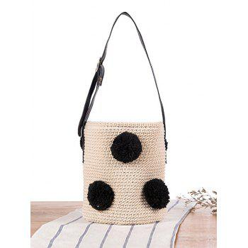 Drawstring Crochet Bucket Sling Bag