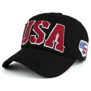 USA Letters Flag Baseball Hat