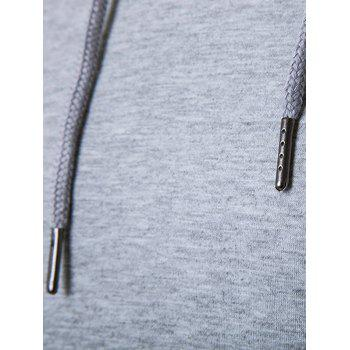 Hooded Hem Side Zip Up T-Shirt - LIGHT GRAY XL