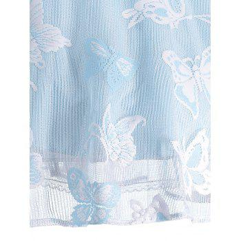 Plus Size Butterfly Jacquard A Line Short Formal Dress - LIGHT BLUE 4XL