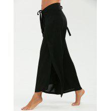 Multipurpose Wide Leg Pants with Lace Up