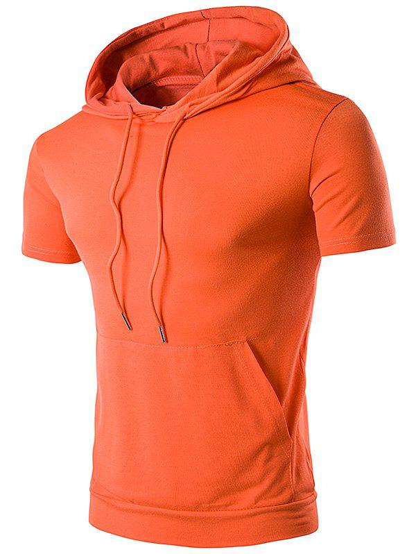 Embellished Hooded T-Shirt - JACINTH XL