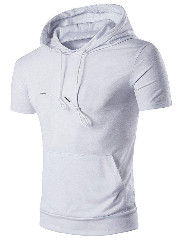 Embellished Hooded T-Shirt - WHITE S