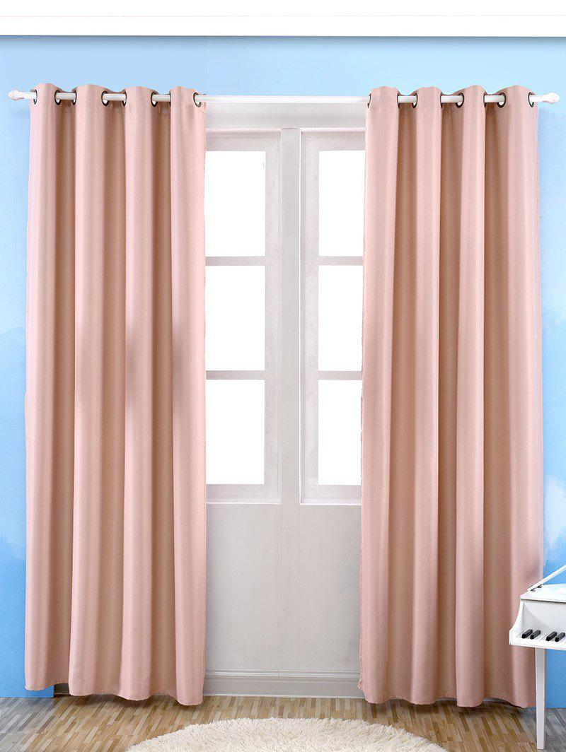 Thermal Insulated Blackout Curtain Pour Living Room - ROSE PÂLE W57 INCH*L69 INCH