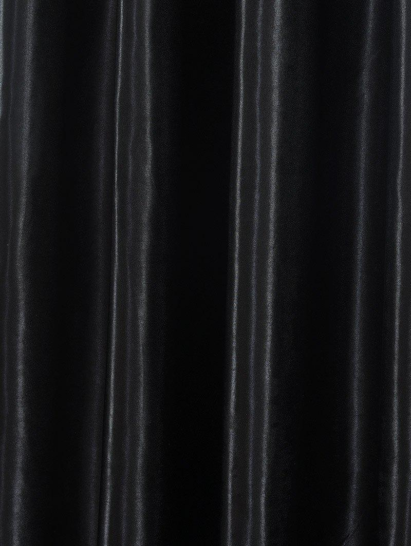 Thermal Insulated Blackout Curtain Pour Living Room - Noir W39 INCH*L98 INCH