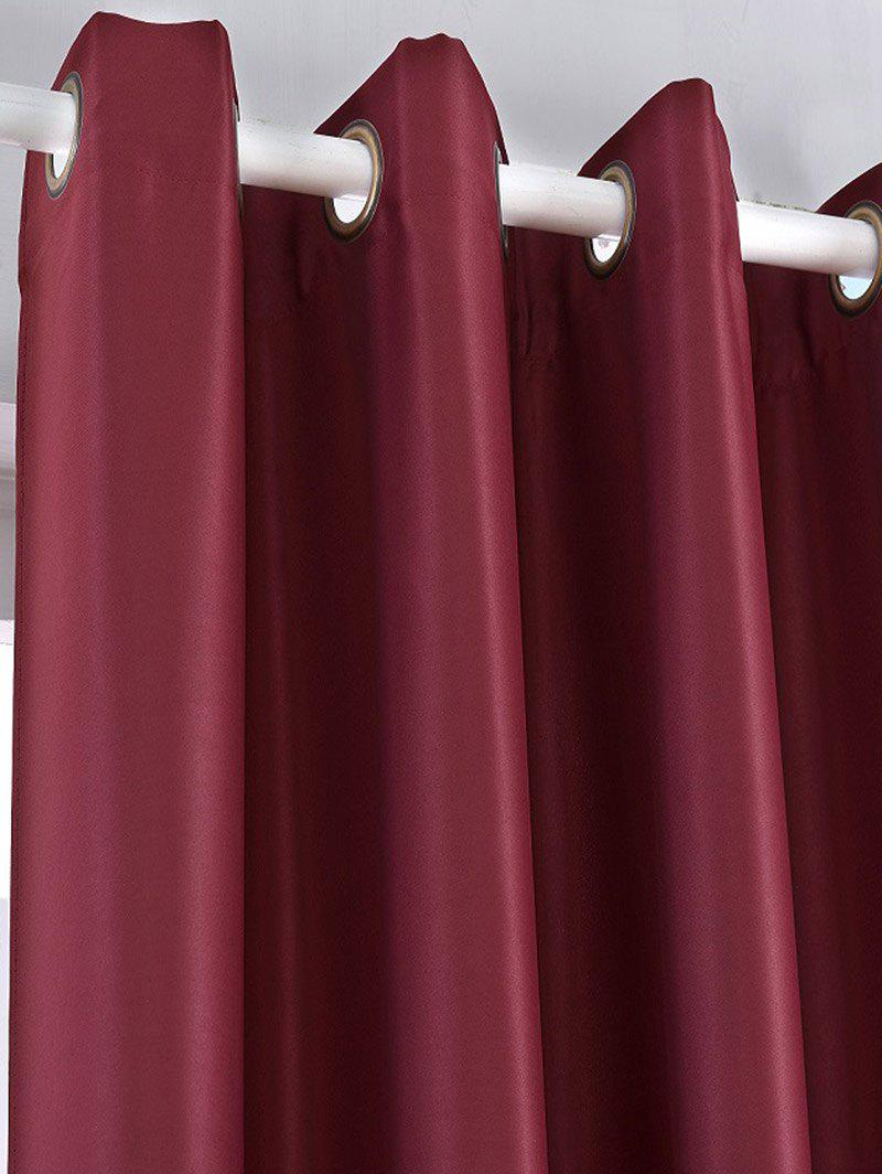 Thermal Insulated Blackout Curtain Pour Living Room - Rouge vineux W57 INCH*L96 INCH