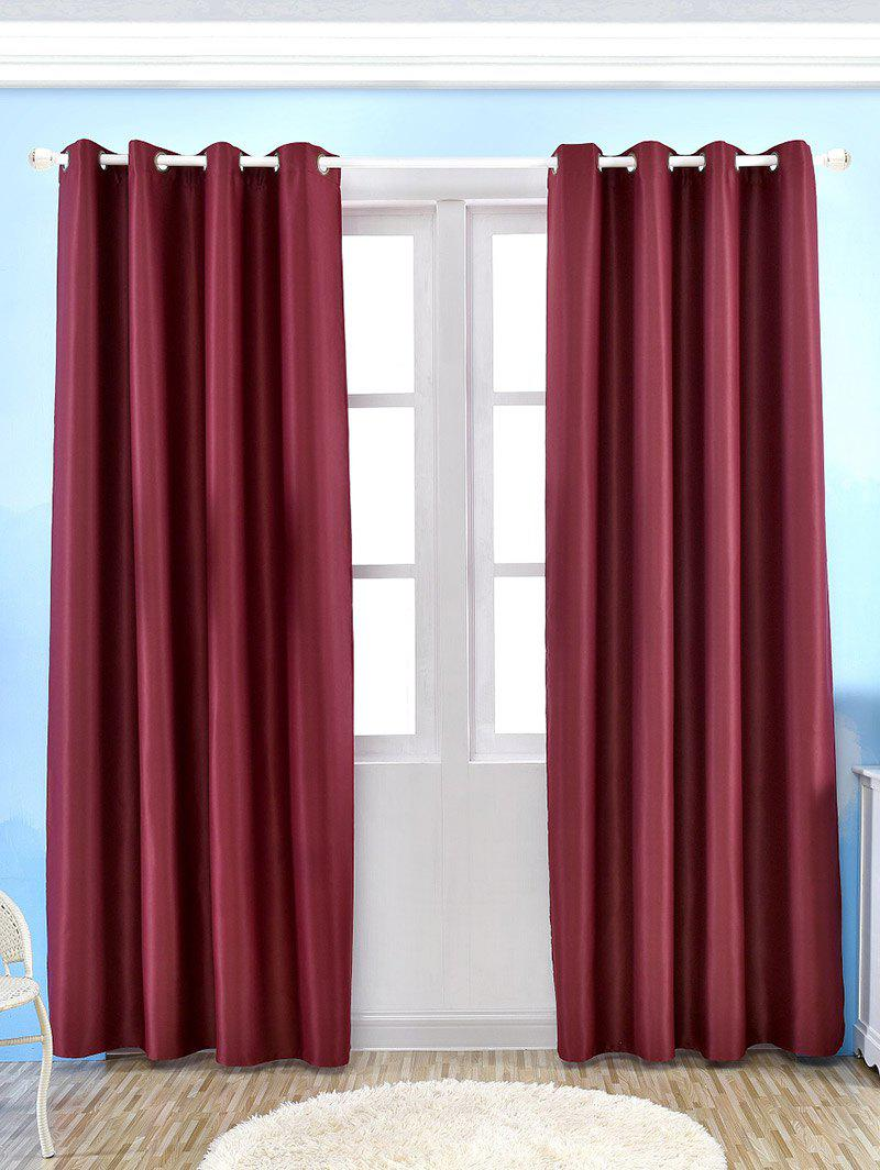 Thermal Insulated Blackout Curtain For Living Room - WINE RED W57 INCH*L96 INCH
