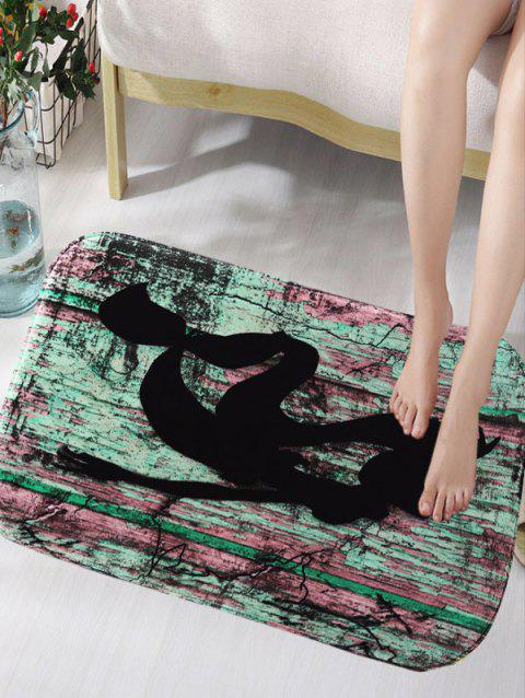 Creative Splash Ink flanelle Antislip Rug - multicolore