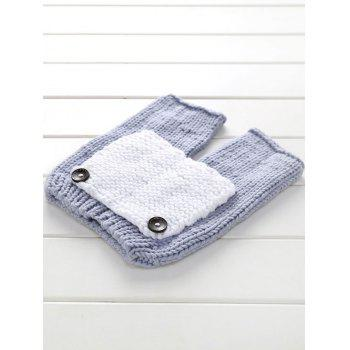 Big Pocket Photographie Tricot bébé Pant et Hat - Gris