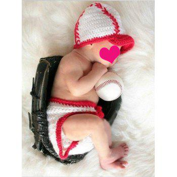 Knitting Baby Sweater Underwear and Baseball Modelling Hat