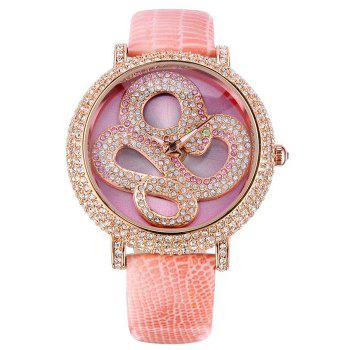 SOUSOU Rhinestone Snake Quartz Watch