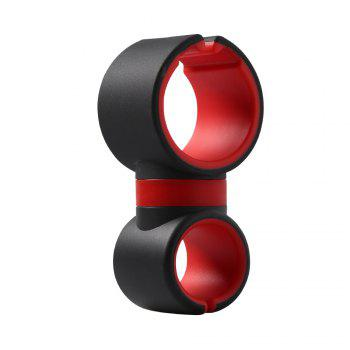 Universal C Type 360 Degrees Bicycle Phone Holder - RED WITH BLACK RED/BLACK