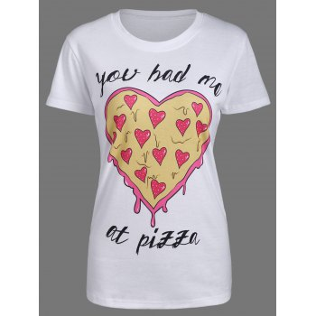 You Had Me At Pizza Print T-Shirt