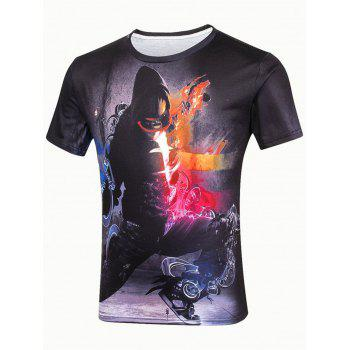 3D Music Hipster Short Sleeve T-Shirt