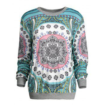 Crew Neck Long Sleeve Print Tee
