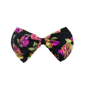 Bowknot Floral Bandeau Bikini Top - BLACK AND RED BLACK/RED