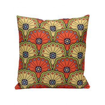 National Style Printed Linen Decorative Pillow Case