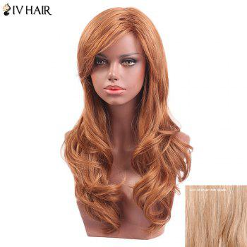 Siv Hair Long Wavy Oblique Bang Capless Human Hair Wig