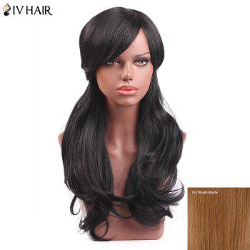 Buy Siv Hair Long Slightly Curly Sided Bang Capless Human Wig LIGHT BLONDE