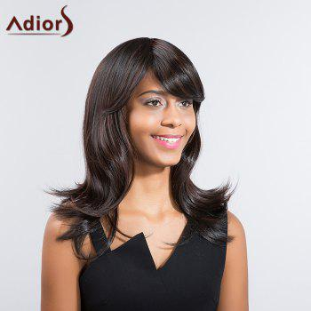 Adiors Long Slightly Curly Side Bang Synthetic Wig