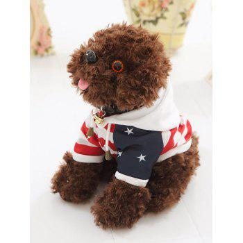 Dressed Striped Star Hooded Teddy Dog Toy