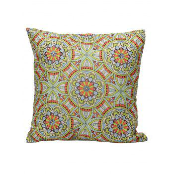 Ethnic Style Flower Print Cushion Cover Pillowcase