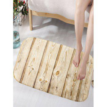 Wood Texture Skidproof Flannel Artistic Area Bath Mat