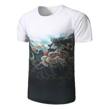 Floral Printed Ombre T-Shirt