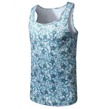 All Over Floral Print Tank Top