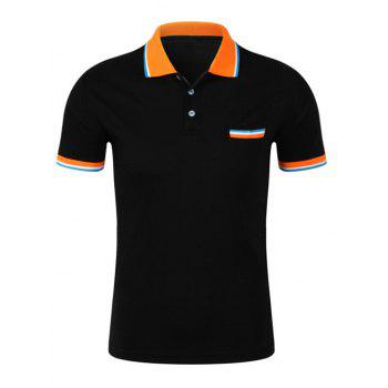 Contrast Collar Pocket Design Polo Shirt