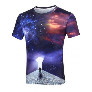 Galaxy Spiral Gate Short Sleeve T-Shirt