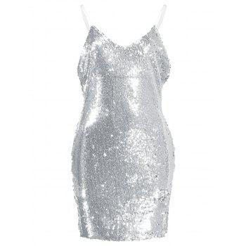 Sequin Spaghetti Strap Mini Dress