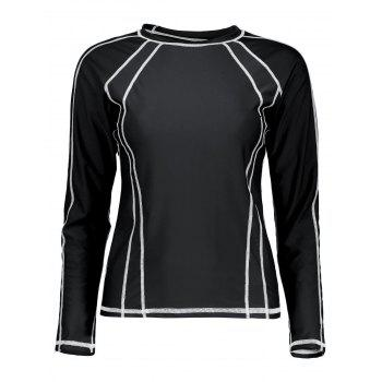 Long Sleeve Plus Size Swim Top
