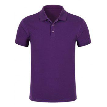 Half Buttoned Plain Polo Shirt